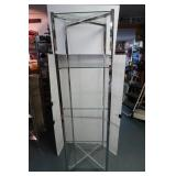 "Adjustable Glass Shelf Display Unit-18""x18""x68""H"