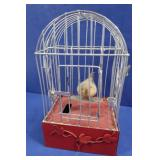 Vintage Musical Wind-up Bird Cage