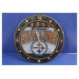 Steelers Stained Glass Clock