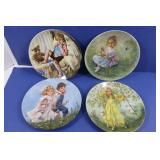 4 Vintage Reco Collector Plates-LIttle Bo Peep,
