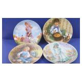 4 vintage Reco Plates-Little Boy Blue, Mary, Mary;