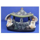 Vintage Elec Oriental Porcelain Lamp(works)