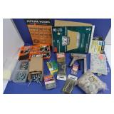 Misc Hardware-Sandpaper, Picture Hooks, Eye Bolts,