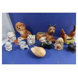 Vintage Doggie Planters-1 Block Pottery(cal),