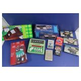 NIB Poker Set, Wooden Card Shoe, Cards & more