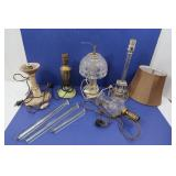 Vintage Marble & Glass Lamps & more