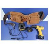 DeWalt Drill 926 wCharger/12V Battery, LeatherTool