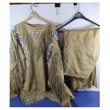 Authentic Indian Costume from Reservation-Deerhide
