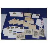 Vintage Blank Postcards w/Various Stamps