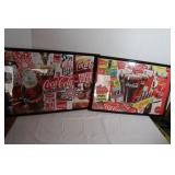 """2 Framed CocaCola Puzzles-31""""x21"""""""