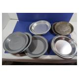 Pie Plates-3 Mrs. Smiths, 2 Aluminum, 6 Stainless,