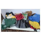Coleman Rainsuit, Canvas Bags &more