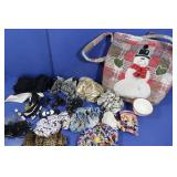 Purse, Hair Accessories(ties, clips)