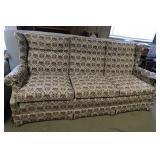 EthanAllen Wingback Sofa w/Spring Bottom Edge-79:""