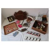 Misc Lot-Fondue Forks,Votive Candles, Knickknacls&