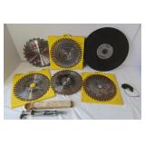 "4-10"" Saw Blades, 14"" Grinding Disc & more"