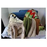 2 Handmade Afghans, Throw, Tote included