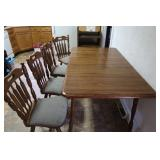 """Maple Table w/1 Leaf&4 Chairs-58L""""x35""""W(w/leaf in)"""