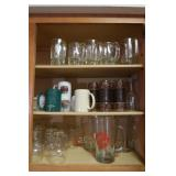 Contents of Cabinet-Pitchers,Mugs,Water Glasses