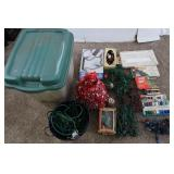 """Christmas Lot-Lights,18""""Tinsel Tree,Ext Cords&more"""
