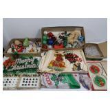 Christmas Decor Lot-Ornaments,Garland,&more
