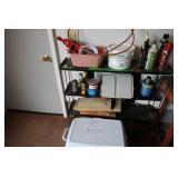 Contents of Metal Shelf &Shelving Unit&Rubbermaid