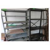 """2 Metal Shelving Units-36x18x67""""H & 36x16x71""""H"""