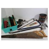 Heavy Duty Staple Gun, Hand Saws, Wire Brush&more