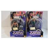 2) 1998 Collector X-ena Warrior Princess Figures