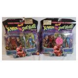 2) 1998 Marvel Comics Juggernaut vs ChunLi-NIP