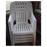 4 Plastic Patio Chairs