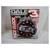 Dale Earnhardt Race Clock--Batteries Not Included