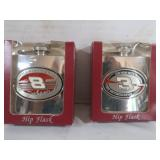Dale Earnhardt Sr and Jr Hip Flasks