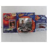 Dale Earnhardt Sr and Jr Die Cast Cars and Keven