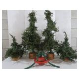 "Decorative Pine Trees with Lights (two 34"" and"