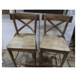 "2 Bar Chairs(Tan/Gold Color)-38""H"