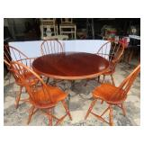 "Round Wood Table w/5 Chairs-48""Rd."