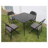 Card Table w/4 Chairs