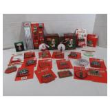 Coca-Cola Christmas Ornaments and Pencil,