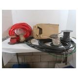 Lot of Electrical Wire and 5 Rope Lights