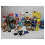 Lot of Cleaning Supplies, De-Icer, Anti-Freeze
