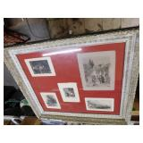 "Large Picture-44Wx39""H w/Plaster Frame(some damage"