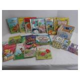 Little Golden Book Lot and Wood Nesting Blocks
