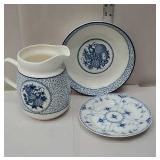 Made in Denmark plate and blue and white bowl and