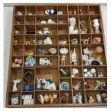 Shadow box of miniatures