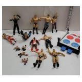 Group of wrestler figures