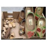 Box of Wooden clogs