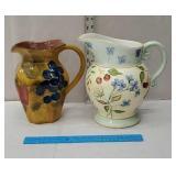 2 large pitchers