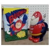 Bud man beer stein with original box made in