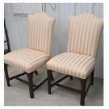 2 pink mahogany side chairs